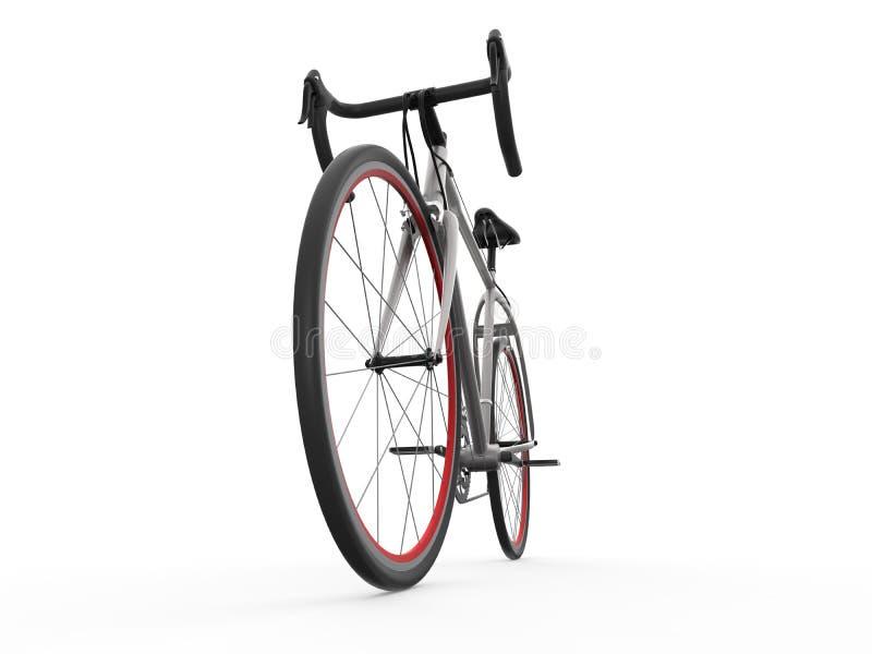 赛跑自行车的速度隔绝在白色背景 免版税库存照片