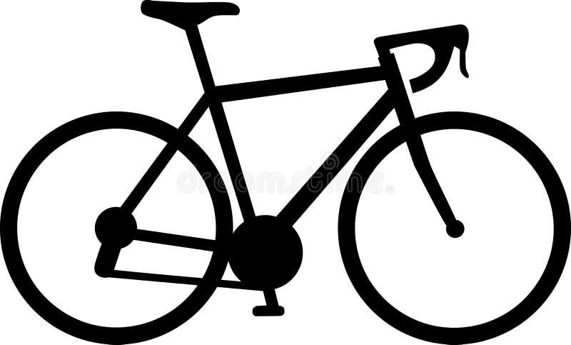 赛跑自行车象 库存例证