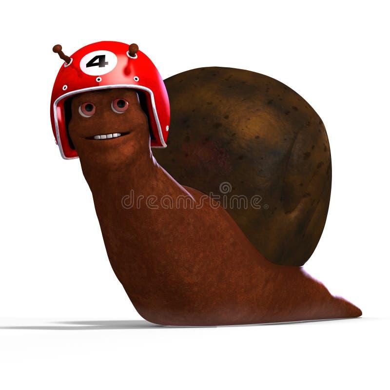 赛跑蜗牛的动画片 库存例证