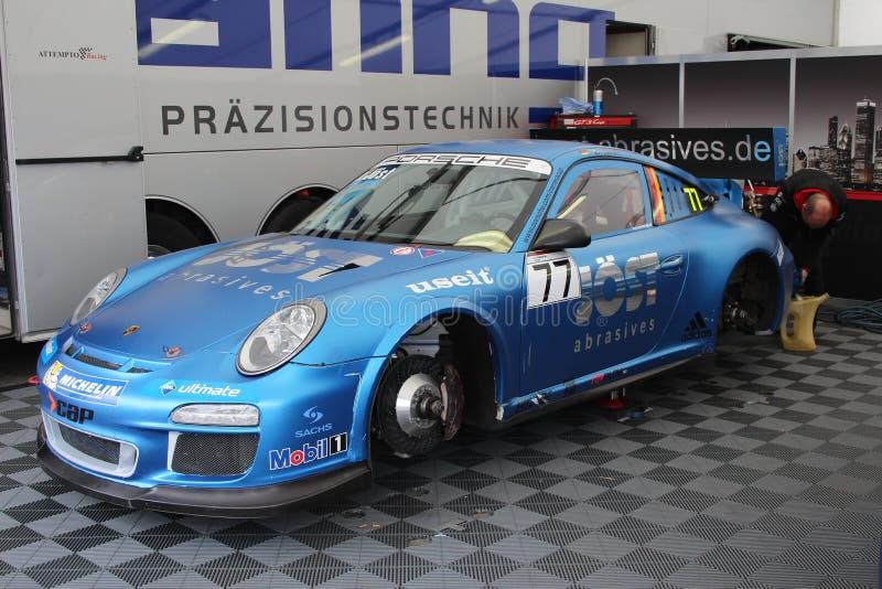赛车在奥舍尔斯莱本,德国 免版税库存图片