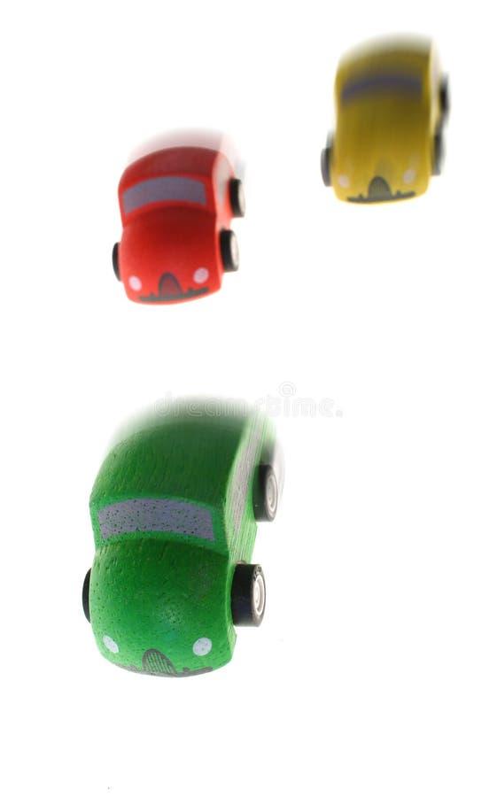 赛车玩具赢取的木头 免版税库存照片