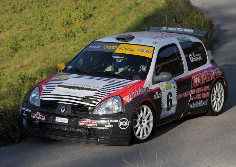 赛车Renaul Clio超级1600 免版税库存照片