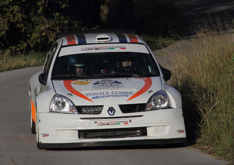 赛车Renaul Clio超级1600 免版税库存图片