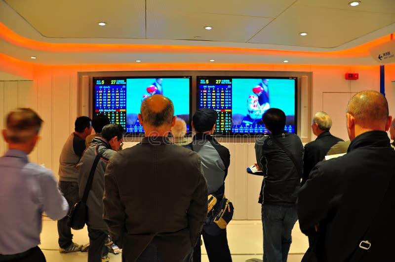 赛马赌客,香港 免版税库存图片