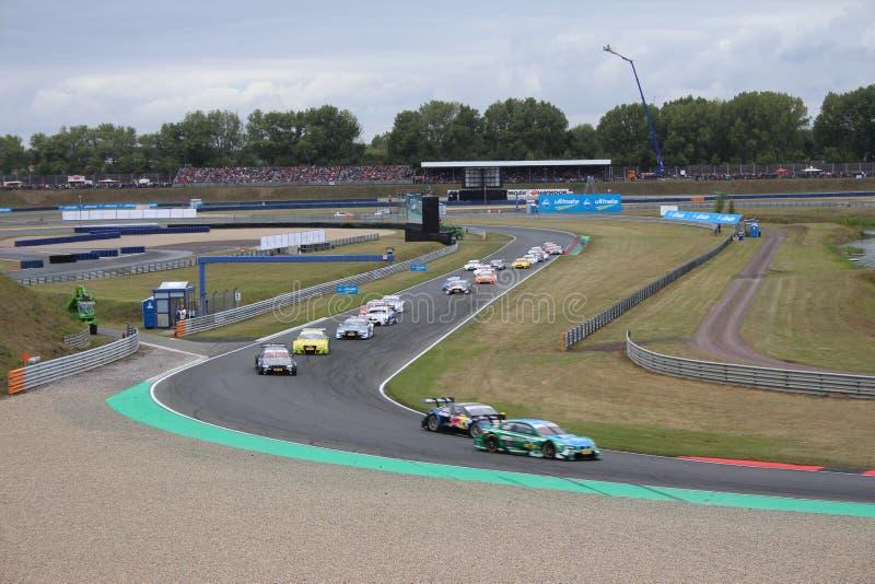 赛马跑道在奥舍尔斯莱本,德国 库存照片