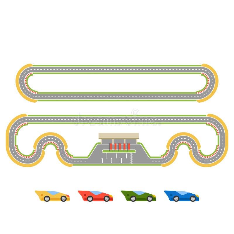 赛马跑道曲线路 向量例证