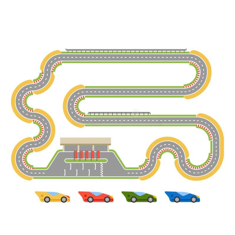 赛马跑道曲线路 库存例证