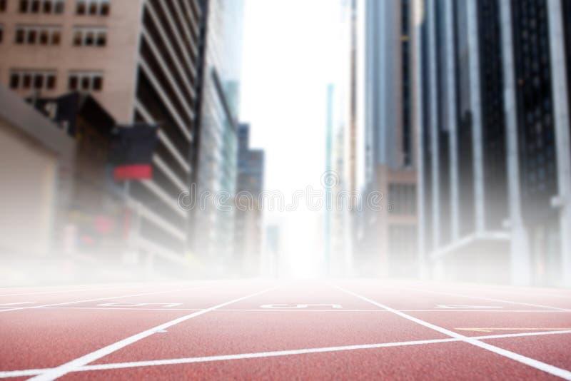赛马跑道的综合图象 向量例证