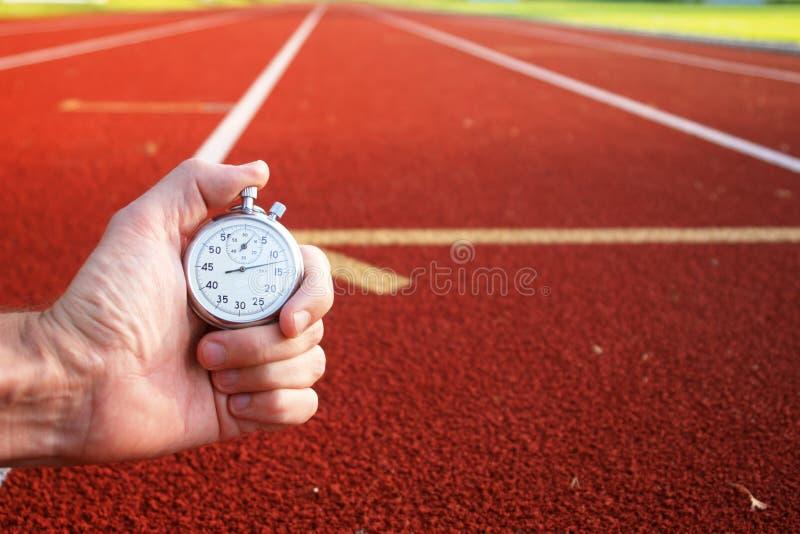 赛马跑道秒表 库存照片