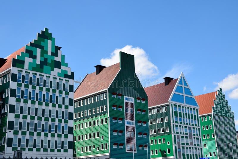 赞丹,荷兰设计通过合并Zaan地区的传统建筑学吸引客人 库存图片