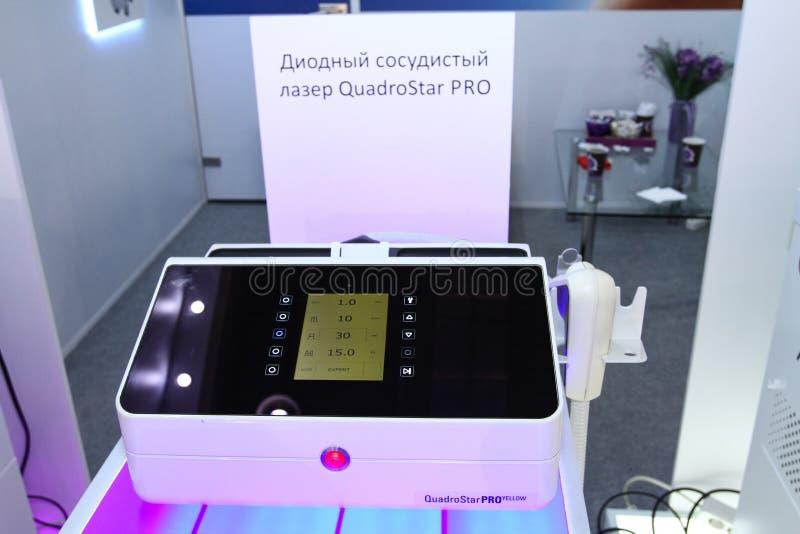 赞成二极管血管激光Quadro星 免版税库存图片