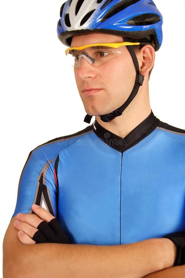 赞成确信的骑自行车者 免版税图库摄影