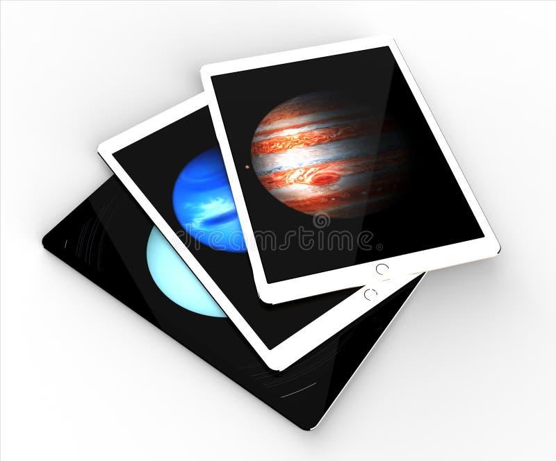 赞成苹果计算机iPad 免版税库存照片
