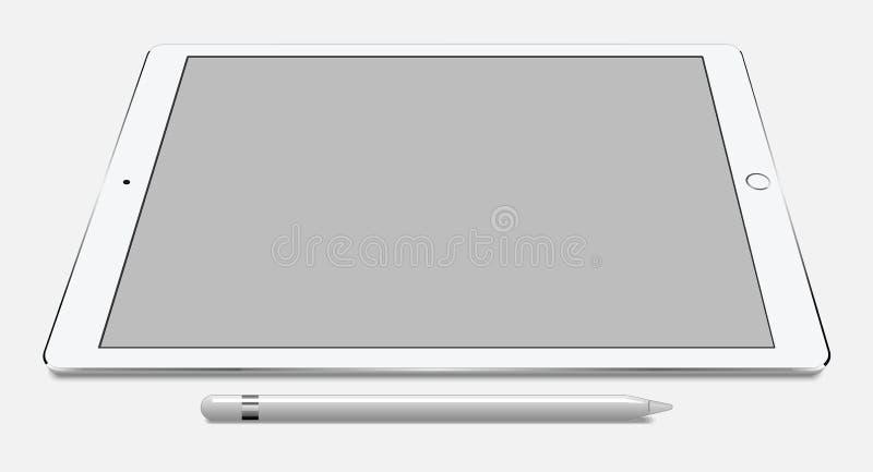 赞成苹果计算机iPad 皇族释放例证