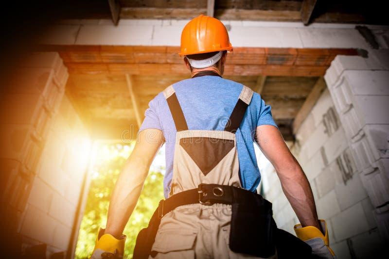 赞成建造者准备好工作 免版税库存图片