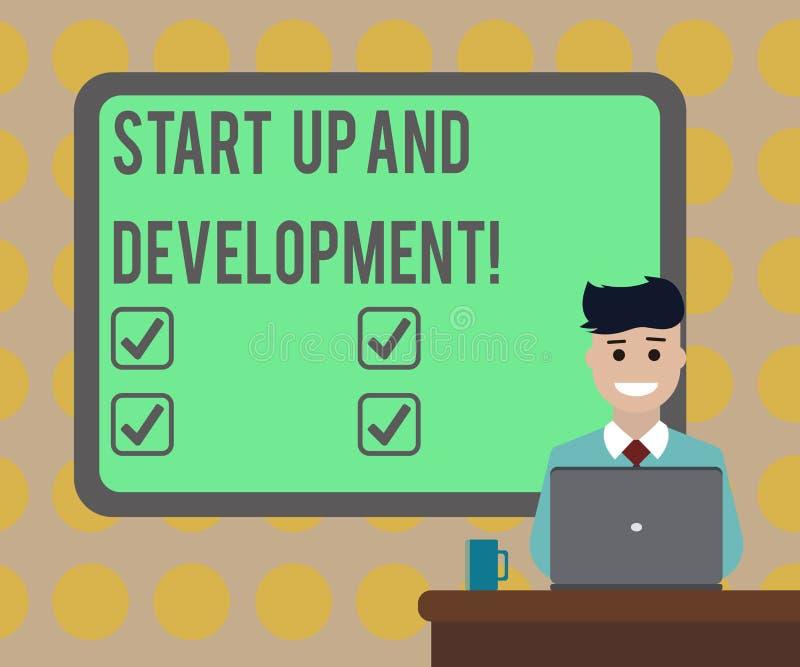 赞扬文本开始和发展的词 新的企业成功公司项目战略空白的企业概念 库存例证