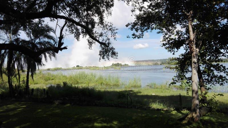 赞比西河利文斯东赞比亚 免版税库存图片