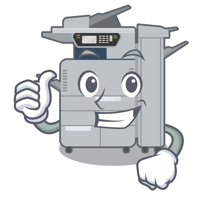 赞许在动画片隔绝的影印机机器 向量例证