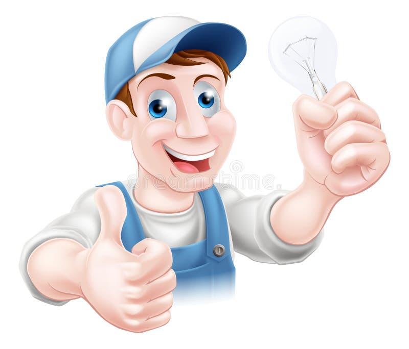 赞许电工电灯泡 库存例证