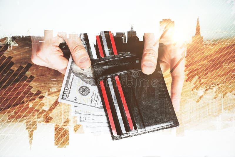 赢利、储款和金钱概念 免版税库存图片