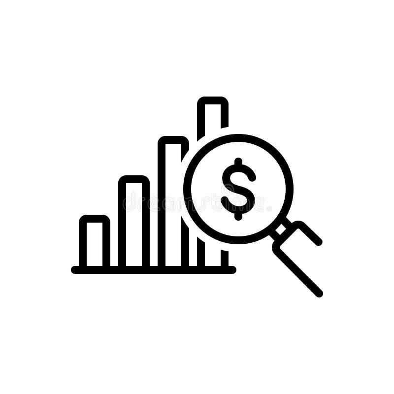 赢利分析、数据和投资者的黑线象 向量例证