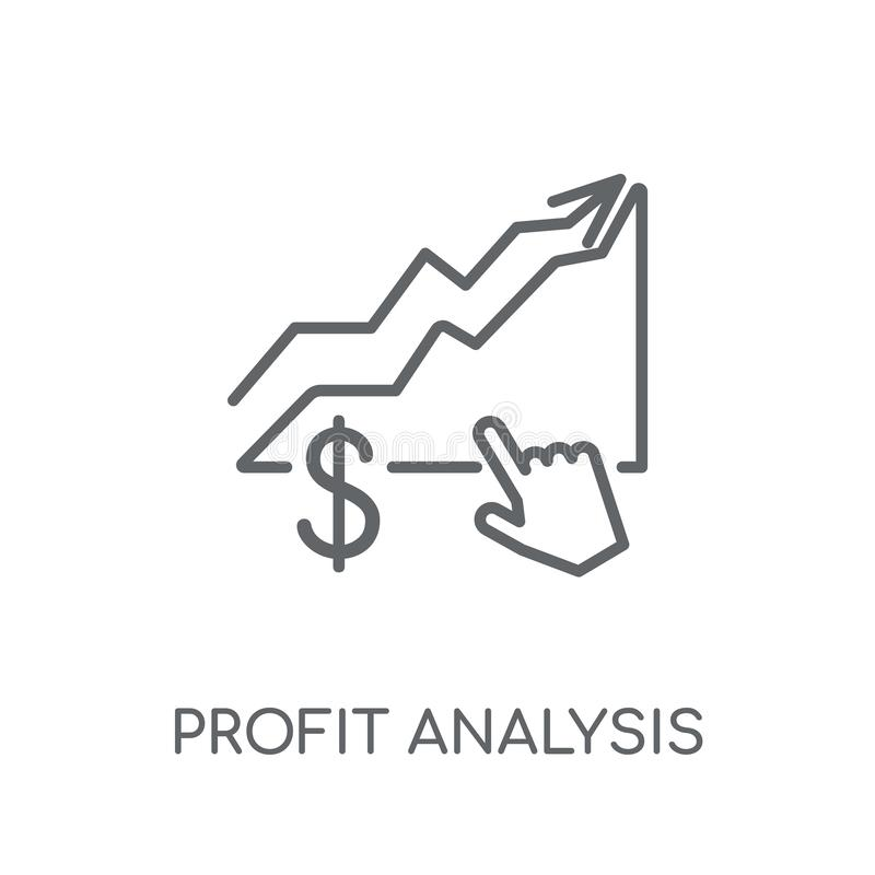 赢利分析线性象 现代概述赢利分析商标 向量例证