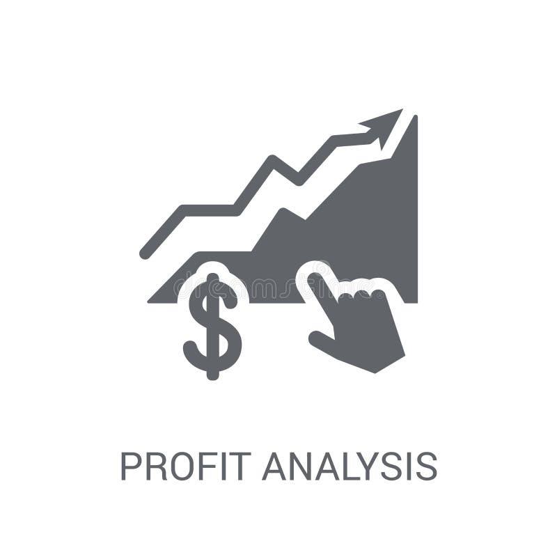 赢利分析象 在whi的时髦赢利分析商标概念 向量例证