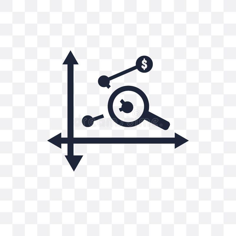 赢利分析透明象 赢利分析标志设计 皇族释放例证