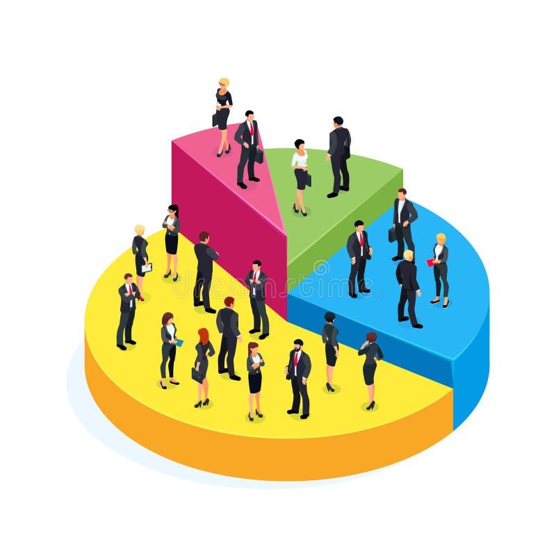 赢利的等量企业概念 向量例证
