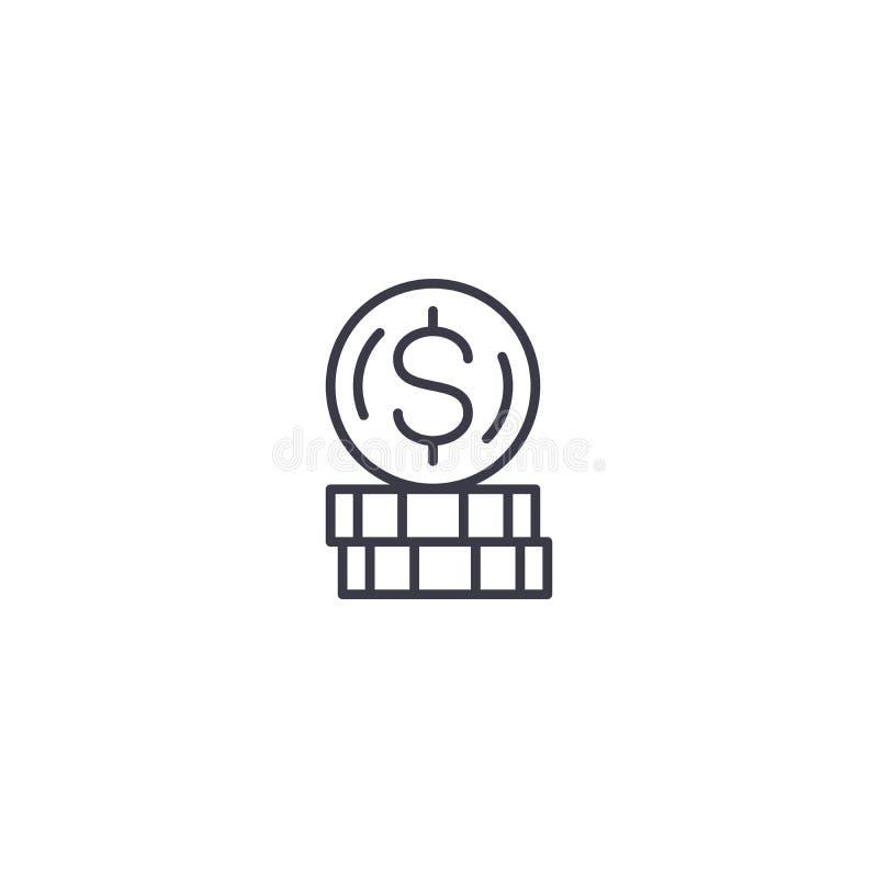赢利系统线性象概念 赢利系统线传染媒介标志,标志,例证 向量例证
