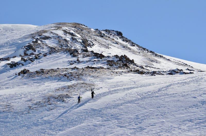 赢得您的轮在偏远地区:Loveland,通行证,科罗拉多,滑雪天堂 库存图片