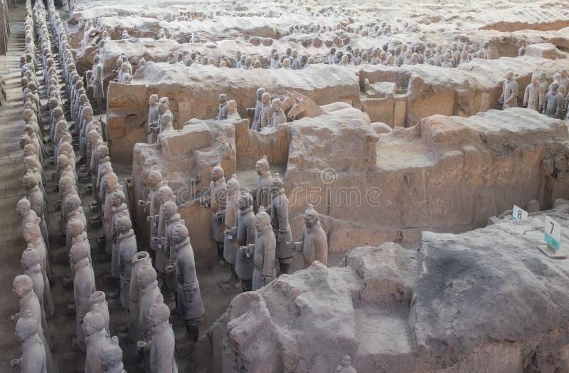 赤土陶器军队在羡,中国 库存照片