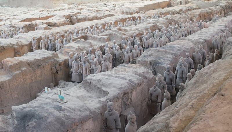 赤土陶器军队在羡,中国 图库摄影