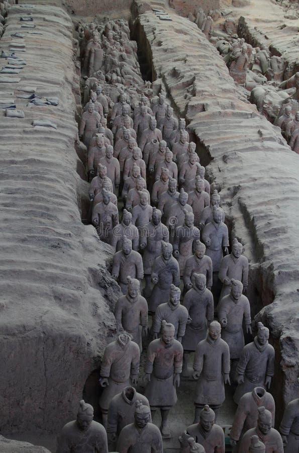 赤土陶器战士在中国 库存照片