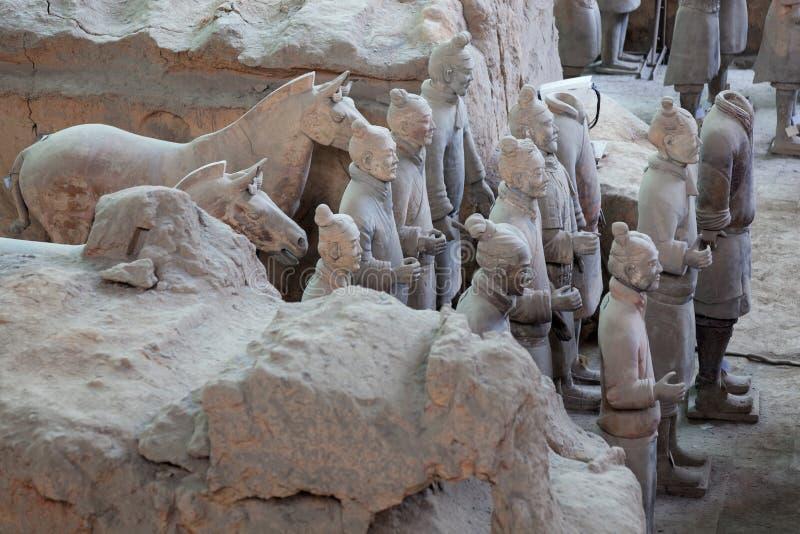赤土陶器战士在羡,中国 库存照片