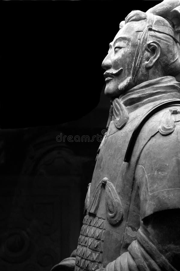 赤土陶器战士 免版税图库摄影