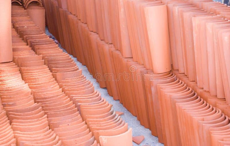 赤土陶器瓦片 库存照片