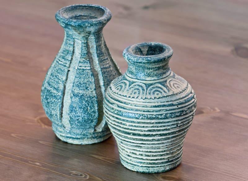 赤土陶器花瓶 库存图片