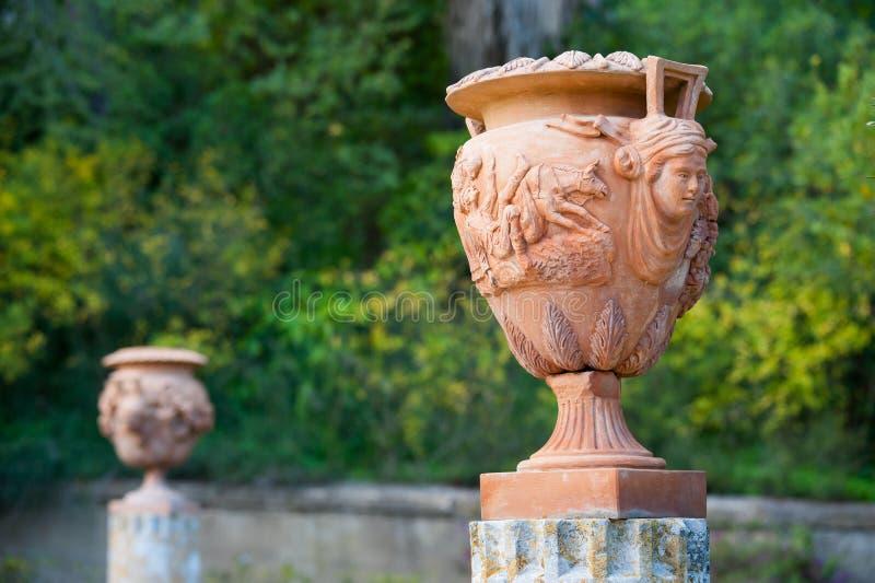 赤土陶器花瓶 免版税库存图片