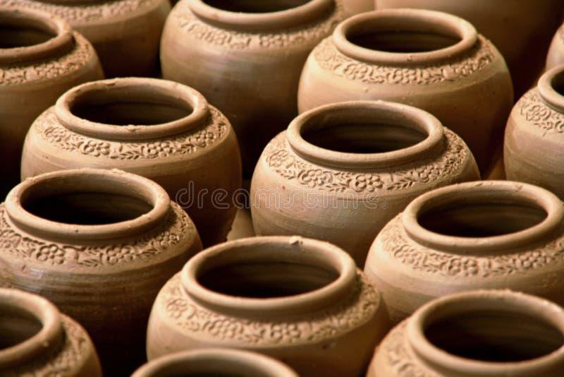 赤土陶器花瓶 免版税库存照片