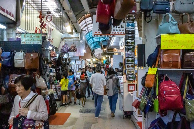 赤柱市集,香港看法  免版税库存照片