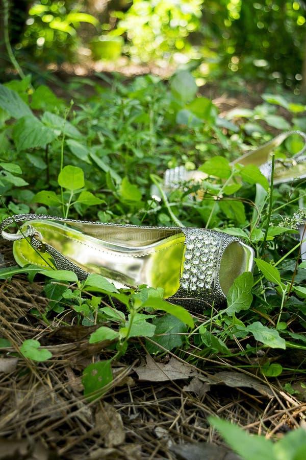 赤脚在森林 免版税库存照片