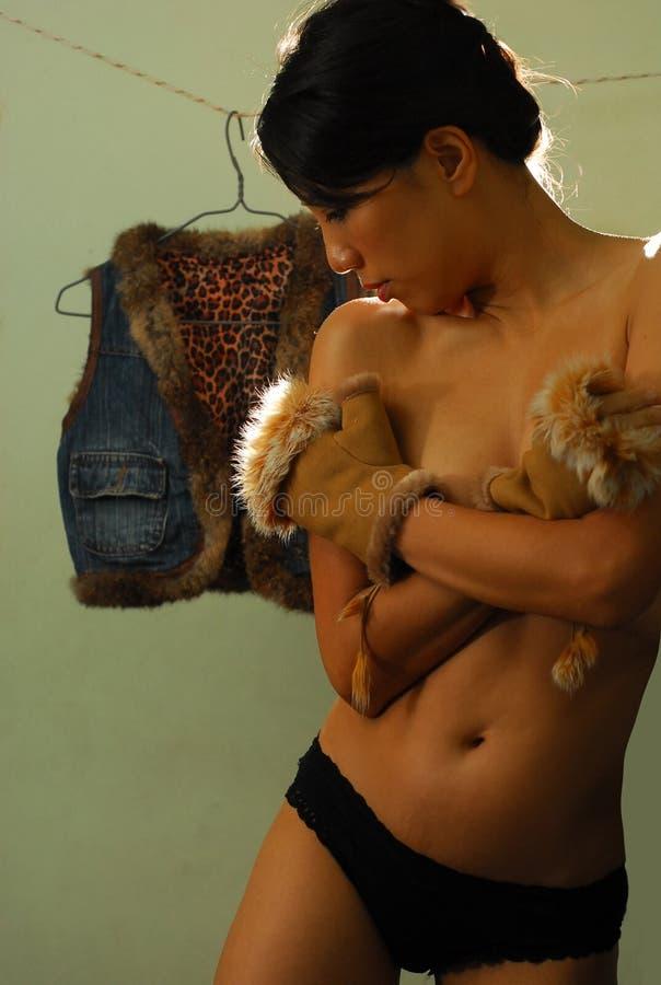 赤裸妇女 库存照片