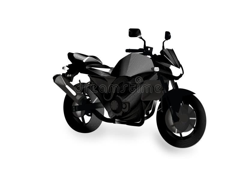 赤裸抽象摩托车 免版税库存图片