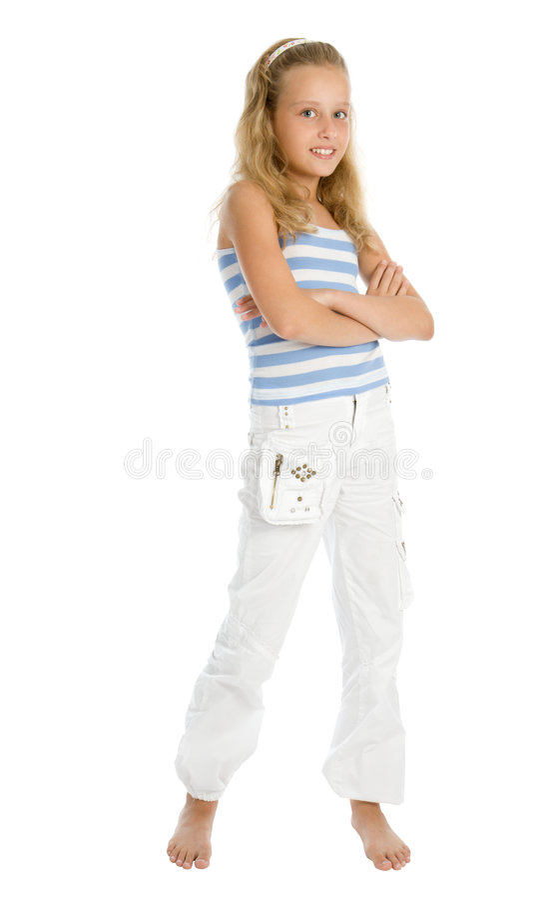 赤足女孩年轻人 免版税库存图片