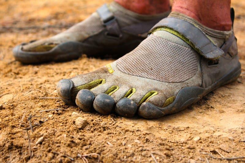 赤足鞋子 免版税库存图片