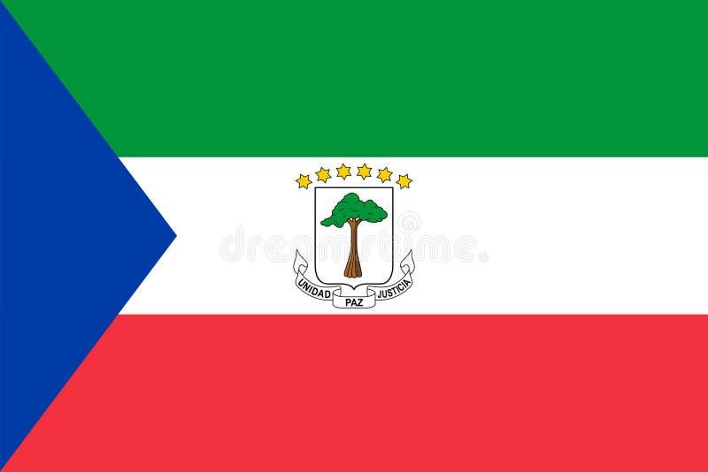 赤道几内亚的传染媒介旗子 比例2:3 Equatoguinean国旗 共和国赤道几内亚 向量例证