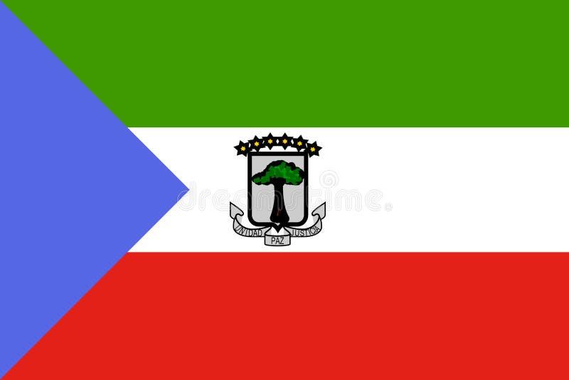 赤道标志几内亚 向量例证