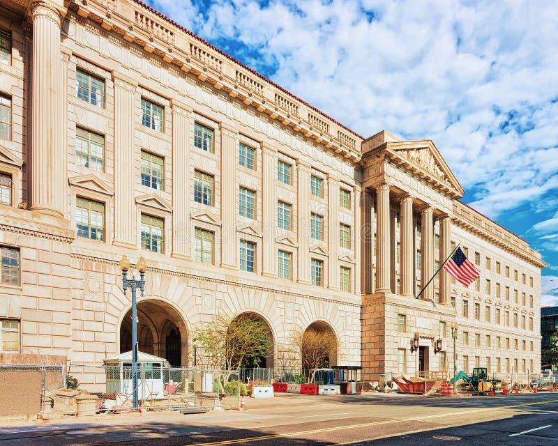 赫伯特・胡佛修造商务部在华盛顿特区 库存照片