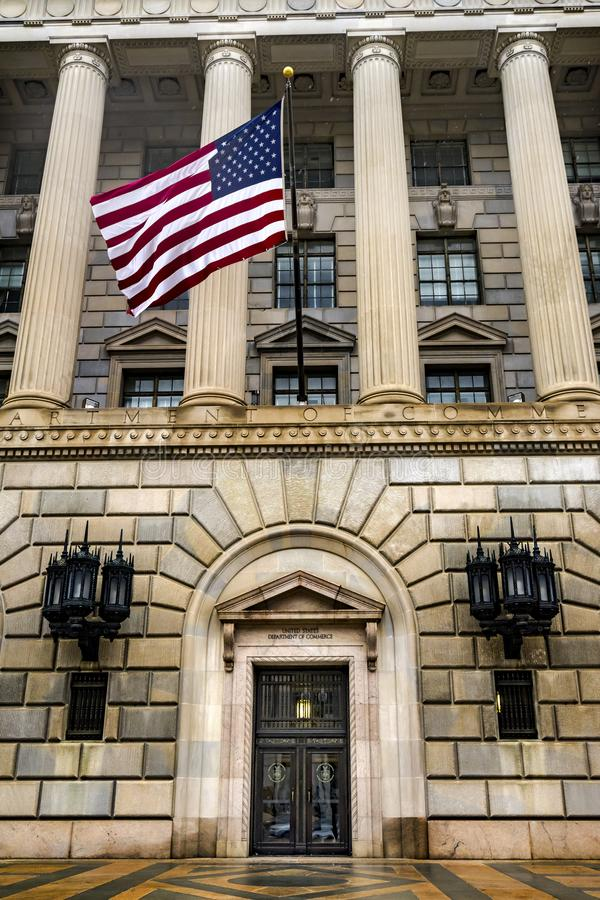 赫伯特・胡佛大厦商务部第14街道华盛顿特区 库存照片